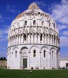 Baptistery of St. John in Italy Stock Image