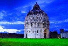 Baptistery of St. John in the Piazza dei Miracoli, Pisa Stock Photos
