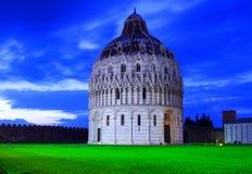 Baptistery St John w piazza dei Miracoli, Pisa Zdjęcia Stock