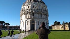 Baptistery van de Kathedraal van Pisa - externe mening Royalty-vrije Stock Fotografie