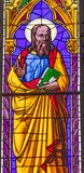 Baptistery van heilige John Gospel Writer Stained Glass Kathedraal Pisa royalty-vrije stock afbeeldingen
