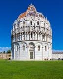 Baptistery van Pisa Stock Afbeelding