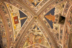 Baptistery van San Giovanni, Siena, Toscanië, Italië stock fotografie