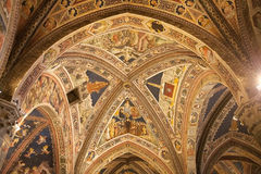 Baptistery von San Giovanni, Siena, Toskana, Italien Lizenzfreies Stockbild