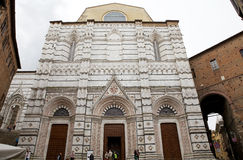 Baptistery von San Giovanni, Siena, Toskana, Italien Stockfotos
