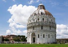 Baptistery w kwadracie Pisa, Włochy cudy - Obrazy Royalty Free
