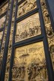 Baptisterydörrar - Florence - Italien Arkivfoto