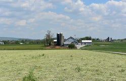 Baptistisk lantgård som finnas i Lancaster County Pennsylvania arkivfoto
