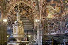 Baptistère de San Giovanni, Sienne, Toscane, Italie Photographie stock
