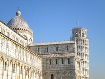 baptistry cathdral dei hdr τετραγωνικός πύργος Τοσκάνη της Πίζας πλατειών miracoli θαύματος της Ιταλίας κλίνοντας Στοκ εικόνες με δικαίωμα ελεύθερης χρήσης