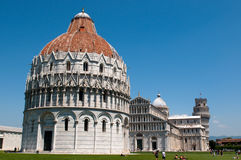 The Baptistry of the Cathedral of Pisa Royalty Free Stock Photos