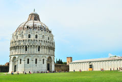 Baptistry cathedral of pisa Royalty Free Stock Image