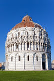The Baptistry in Cathedral Square in Pisa, Italy. Stock Photography