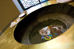 Baptistry in the Church Royalty Free Stock Photo