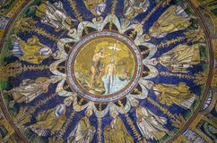 Baptistry do néon, Ravenna, Italy imagem de stock royalty free