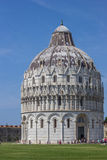 Baptistry at the Piazza dei Miracoli in Pisa Royalty Free Stock Images