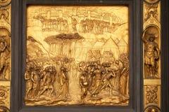 Joshua, Gates of Paradise, Baptistry of Florence Cathedral. Baptistry of Saint John, Gates of Paradise, Joshua, Florence, Italy Royalty Free Stock Photo
