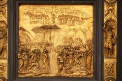 Joshua, Gates of Paradise, Baptistry of Florence Cathedral. Baptistry of Saint John, Gates of Paradise, Joshua, Florence, Italy Royalty Free Stock Images