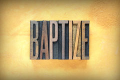 Baptize Letterpress Royalty Free Stock Photography