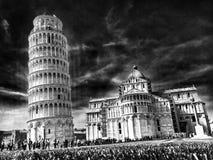 baptysterium cathdral dei hdr Italy oparty cudu miracoli piazza Pisa kwadrata wierza Tuscany Obraz Royalty Free