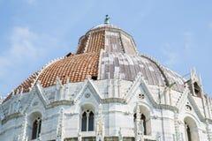 baptysterium cathdral dei hdr Italy oparty cudu miracoli piazza Pisa kwadrata wierza Tuscany Fotografia Stock