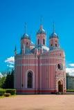 baptystycznego chesme kościelny John pałac święty Kościół St John Baptystyczny Chesme pałac w świętym Petersburg, Rosja Obraz Royalty Free