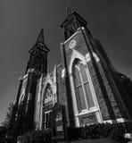 baptystyczny czarny kościół biel Zdjęcia Royalty Free