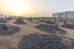 Baqee穆斯林公墓 免版税库存照片
