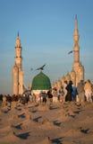 Baqee `回教公墓看法Masjid清真寺的Nabawi Al的M 免版税库存照片