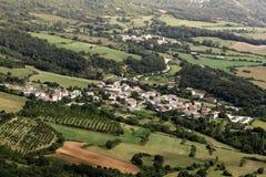 Baquedano. Navarra. Aerial view of Baquedano village. Navarre Stock Photos