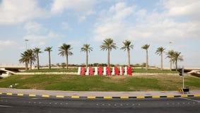 Barém assina dentro um carrossel foto de stock royalty free