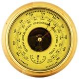 Barómetro aneróide acima da vista Fotografia de Stock Royalty Free