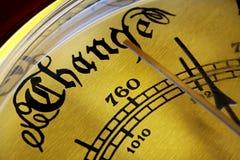 Barómetro da mudança Imagem de Stock Royalty Free
