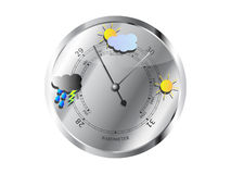 Barómetro de los símbolos de tiempo Fotografía de archivo