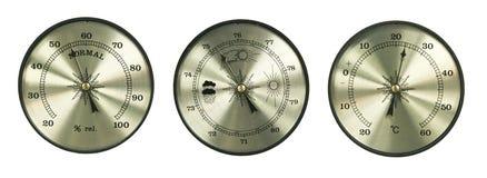 Barómetro del higrómetro del termómetro ilustración del vector
