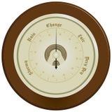Barómetro en la madera oscura libre illustration