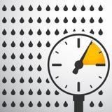 Barómetro, indicador de presión con descensos del agua libre illustration