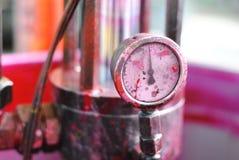 Barómetro MAGENTA para imprimir el tarro en typography_02 Foto de archivo