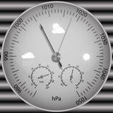 Barómetro para determinar la presión atmosférica ilustración del vector