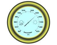 Barómetro redondo ilustración del vector