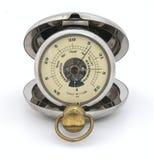 Barómetro viejo del bolsillo, tiempo justo Foto de archivo libre de regalías