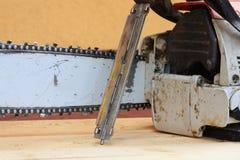 Bar, łańcuch, łańcuchu saw i kartoteka, Obraz Stock