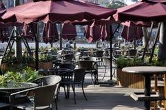 Bar. An open-air bar Inside downtown Royalty Free Stock Photos