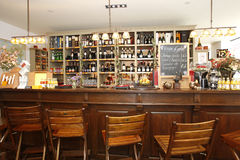 Bar. Classic bar counter interior with empty seats Stock Image