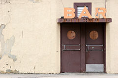 Bar. In an old part of town Royalty Free Stock Images