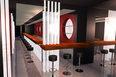 Bar 3D render image Royalty Free Stock Image