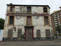 Bar abandonado Derelict no wakefield Inglaterra foto de stock royalty free