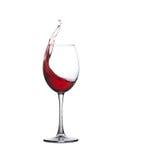 bar alkoholu szklany czerwone wino Chełbotanie alkoholu napój, biały tło kosmos kopii zdjęcie royalty free