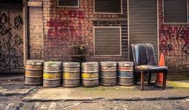 Bar Alley Beer Barrels Stock Photo