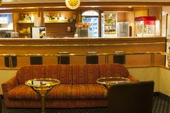 Bar area in the ship royalty free stock photography